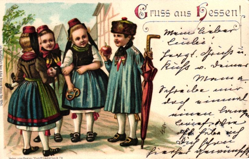 Ansichtskarte - Gruß aus Hessen